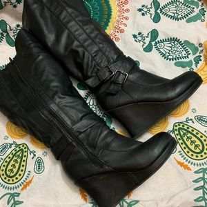Torrid Tall Wedge Boots Size 10